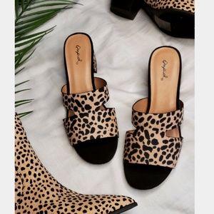 Shoes - 🆕️//The Izzie// Tan leopard Mule
